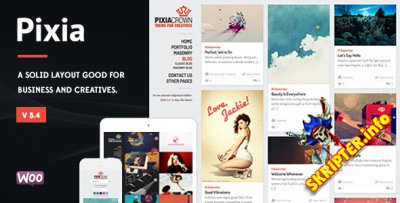 Pixia v5.4 - творческий шаблон для WordPress