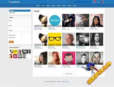mooSocial v2.3.0 - скрипт социальной сети