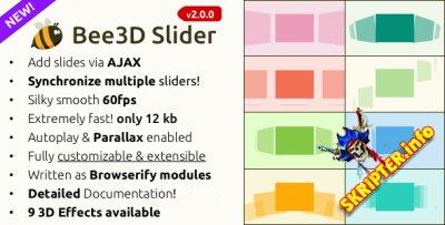 Bee3D Slider v2.0.0 - 3D слайдер для сайта