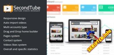 SecondTube v1.0.0 - скрипт видео сайта