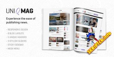 UniqMag v1.0.2 - новостной шаблон для WordPress