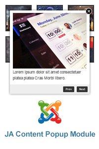 JA Content Popup v1.1.2 Rus - модуль новостей во всплывающем окне для Joomla