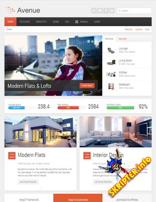 YOO Avenue v1.0.12 - универсальный шаблон для Joomla