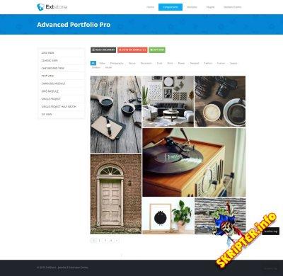 Advanced Portfolio Pro 3.6.0 - компонент портфолио для Joomla