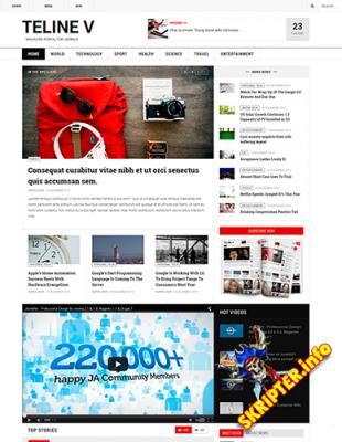 JA Teline V 1.0.8 - новостной шаблон для Joomla