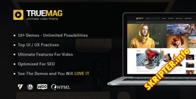 True Mag v4.2.8 - журнал / видео блог шаблон для WordPress