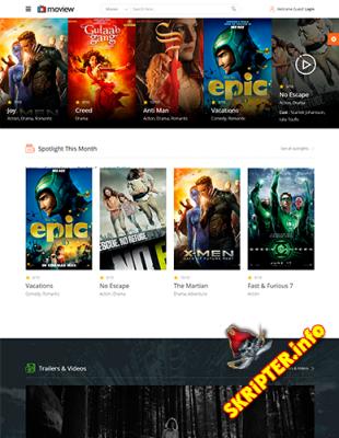 JS Moview v1.3 - кино шаблон для Joomla