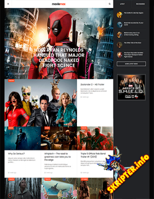 JA Moviemax v1.1.0 - шаблон кино сайта для Joomla