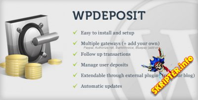 WPdeposit v1.10.1 - монетизация сайта Wordpress