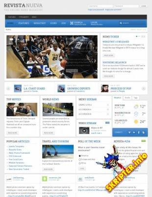 YOO Revista v1.0.4 - шаблон новостного портала для Joomla