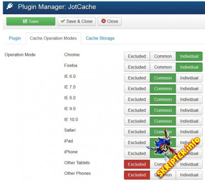 JotCache v5.3.2 Rus - компонент кэширования для Joomla