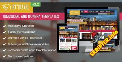 BT Travel v3.2.1 – шаблон для Joomla, Jomsocial и Kunena