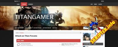 Titan Gamer 1.5.7.0 - современный стиль для XenForo
