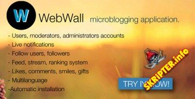 WebWall v1.1 - скрипт социальных микроблогов