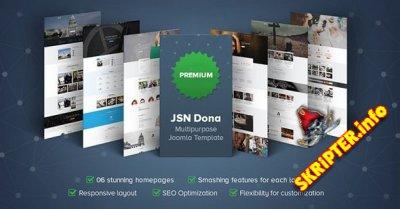 JSN Dona Pro v1.1.1 - универсальный шаблон для Joomla