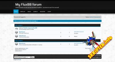 FluxBB v1.5.10 Rus - форумный движок