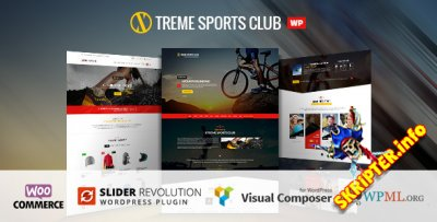 Xtreme Sports Club v1.5.4 - спортивный шаблон для WordPress