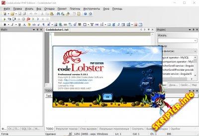 Codelobster PHP Edition v5.10.1 Pro Rus - многофункциональный редактор РНР, HTML, CSS файлов