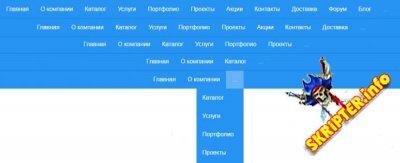 Горизонтальное адаптивное меню для сайта