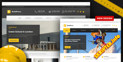 BuildPress v4.0.2 Rus - WordPress тема для строительного бизнеса
