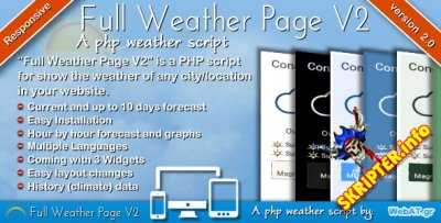 Full Weather Page v2.0 - скрипт погоды