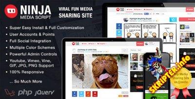 Ninja Media Script v1.5.10 - скрипт мультимедийного сайта