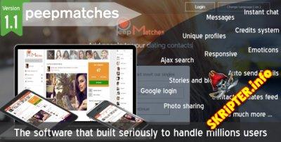 Peepmatches v1.1.0 - уникальный сайт знакомств