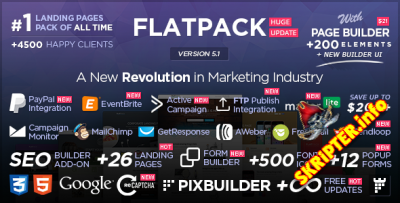 FLATPACK v5.1.1 – Landing Pages Pack With Page Builder