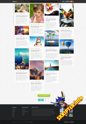 FanBox - шаблон в стиле Pinterest для DLE