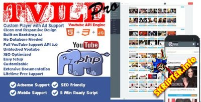 TVile Pro v1.0 - скрипт видео сайта