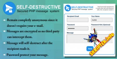 Self-Destruct E-mail message system v1.0