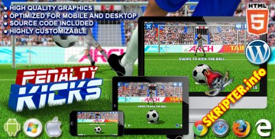 Penalty Kicks v1.0 - [HTML5 Game]