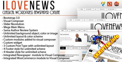IloveNews v1.2 - новостной шаблон для WordPress