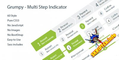 Grumpy - Multi Step Indicator