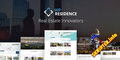 WP Residence v2.0.0 Rus Nulled - шаблон недвижимости для WordPress