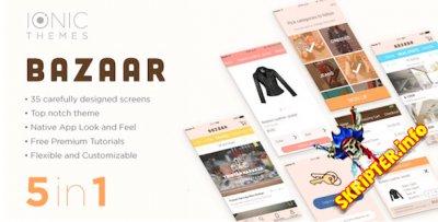 Bazaar - многофункциональный мобильный шаблон для Android