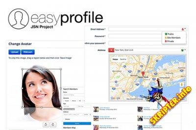 Easy Profile Pro v2.5.6 - расширенный профиль пользователей для Joomla
