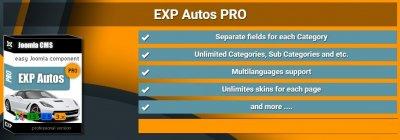 EXP Autos Pro v4.2.2 - создание авто магазина на Joomla