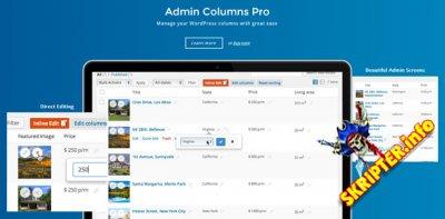 Admin Columns Pro v5.2.2 Rus Nulled - менеджер колонок в админке WordPress