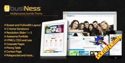 YbusiNess v2.0 - бизнес шаблон для Joomla