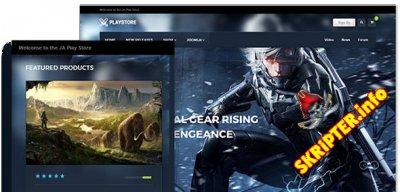 JA Playstore v1.0.6 - шаблон игрового интернет магазина для Joomla