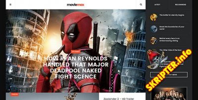 JA Moviemax v1.1.2 - шаблон кино сайта для Joomla