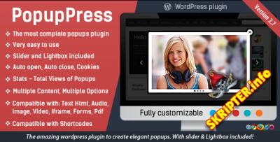 PopupPress v2.7 - всплывающие окна для Wordpress