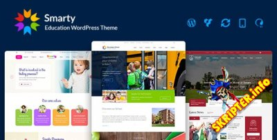 Smarty v3.4.6 Nulled - образовательный шаблон для WordPress