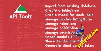 API Toolz v1.0 - PHP Laravel v5.4 Backend + API GUI Tools