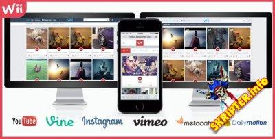 Social Video Share v1.8 - скрипт мультимедийного сайта