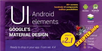Material Design UI Android Template App v2.1
