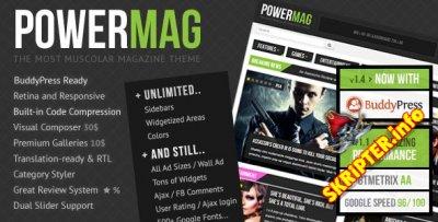 PowerMag v2.0 - уникальный шаблон для WordPress
