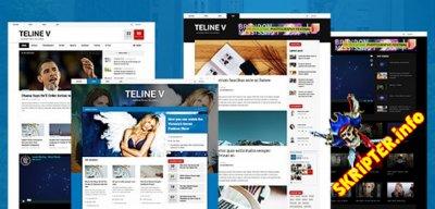 JA Teline V v1.1.9 - новостной шаблон для Joomla