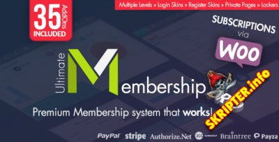 Ultimate Membership Pro v6.9 Rus - создание приватного доступа на сайт WordPress